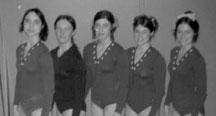 UW Team 1972: Laurie Black, Carol Elsner, Laurel Anderson, Joyce Tanac, Priscilla Taylor